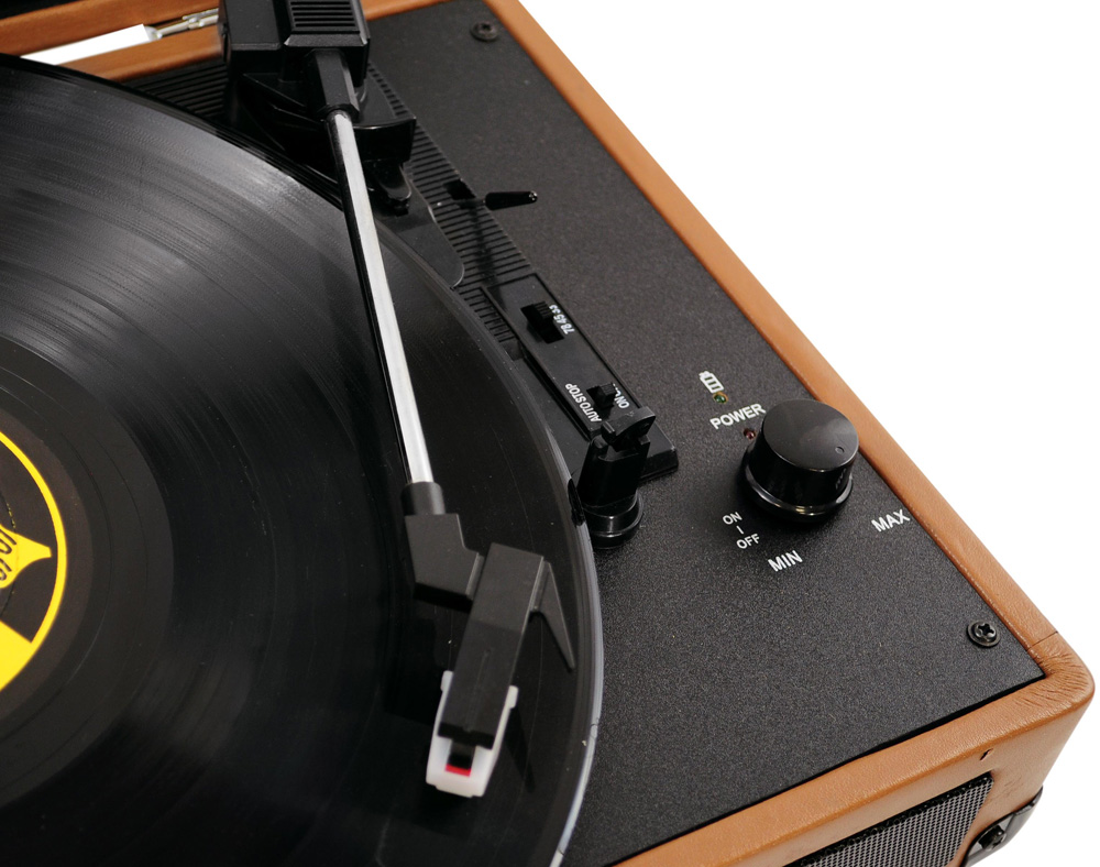 Retro Turntable Combined with Modern Technology